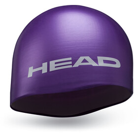 Head Silicone Moulded Bathing Cap purple
